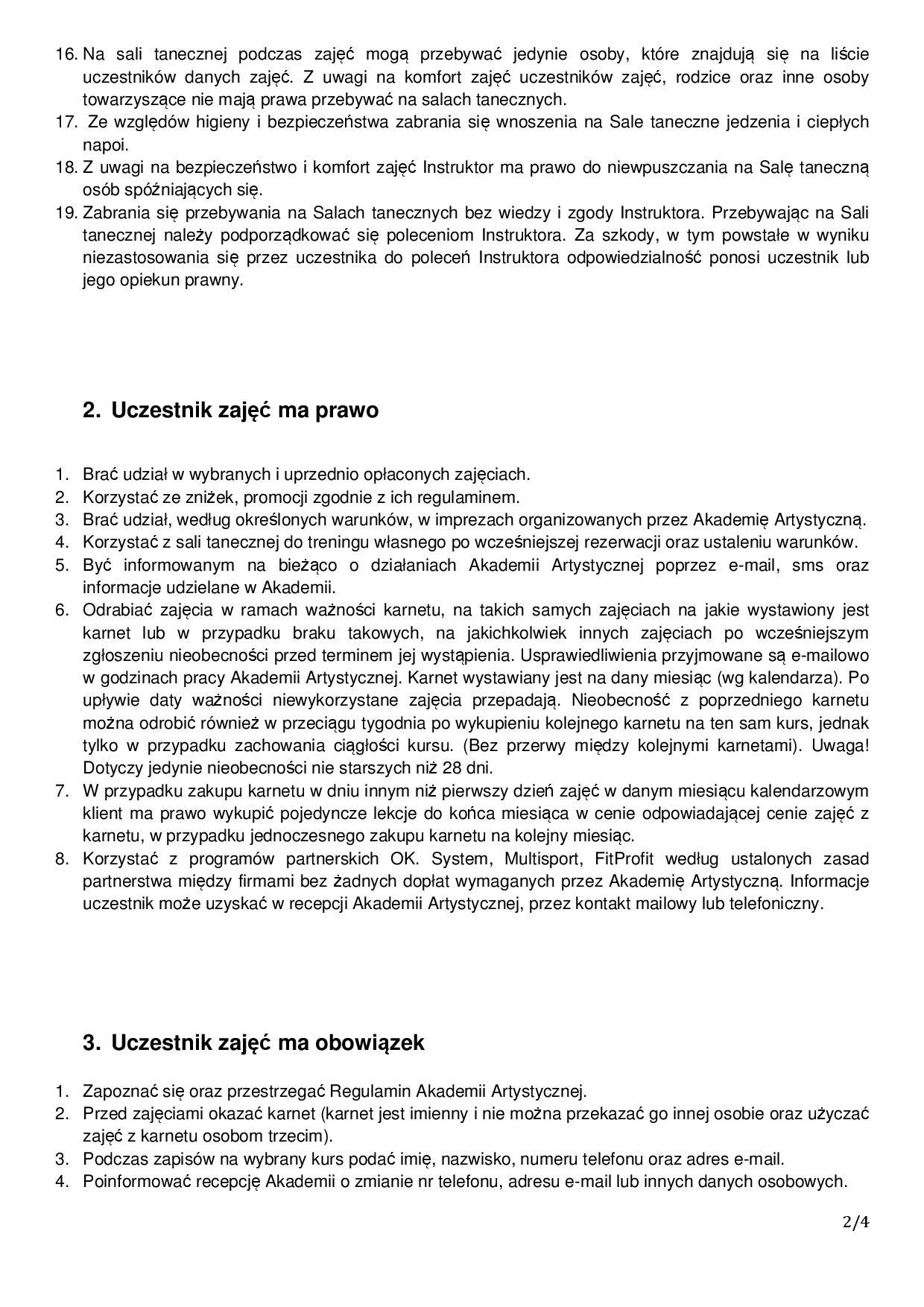 Regulamin Akademia Artystyczna2